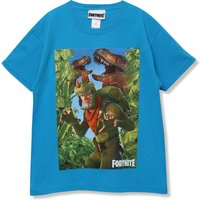Kids Boys dinosaur print Fortnite Rex t-shirt  - Blue