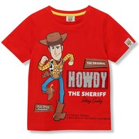 Kids Disney Boys Toy Story Woody t-shirt with short sleeves and flip sequins  - Red