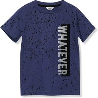 Kids Boys whatever two way sequin t-shirt with short sleeves  - Mid Blue