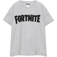 Kids Boys grey Fortnite logo t-shirt  - Grey Marl
