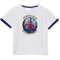 Kids Spiderman boys flip picture t-shirt lenticular design short sleeve crew neck  - Blue and White