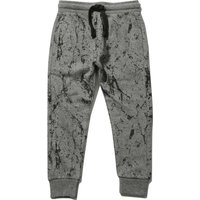 Kids Boys marble print joggers  - Charcoal