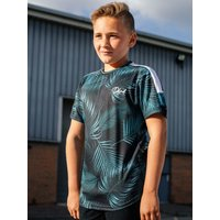 Kids DFND boys palm print t-shirt with short sleeves G - Green