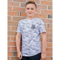 Kids DFND boys space dye t-shirt with short sleeves  - White
