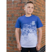 Kids Boys DFND t-shirt with dip dye effect  - Blue
