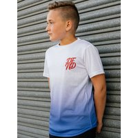 Kids DFND boys ombre t-shirt with short sleeves  - Blue