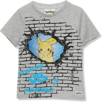 Kids Pokemon boys two way sequin t-shirt with short sleeves  - Grey