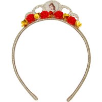 Disney Belle gold glitter red rose sequin detail tiara hair band  - Multicolour