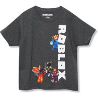 Kids Boys Roblox t-shirt with short sleeves  - Grey Marl
