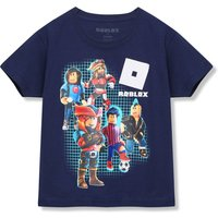 Kids Boys Roblox t-shirt with short sleeves  - Navy