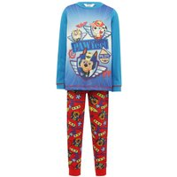 Paw Patrol boys cotton rich long sleeve character print top and cuffed trouser pyjama set  - Multico