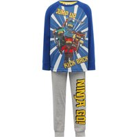 Lego Ninjago cotton blend character print long sleeve top and cuffed trouser pyjama set  - Multicolo