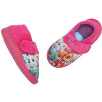 Paw Patrol Girls durable sole hoop and loop strap Skye Everest pink character slipper shoes  - Pink