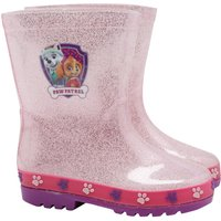 Paw Patrol Skye and Everest Character Print Glitter Extra Grip Rain Wellies Boots  - Pink