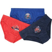 Disney Marvel Spiderman boys pure cotton elasticated character briefs - three pack  - Multicolour