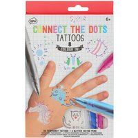 NPW kids connect the dots temporary tattoos 26 designs  - Multicolour