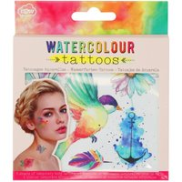 NPW watercolour bird animals flowers temporary tattoos  - Multicolour