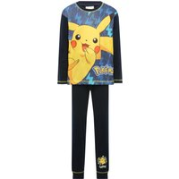 Pokemon boys navy Pikachu character print long sleeve top and trousers pyjama set  - Navy