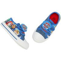 Paw Patrol boys blue character print Chase Marshall Rubble two strap rubber toe sole trainers  - Blu
