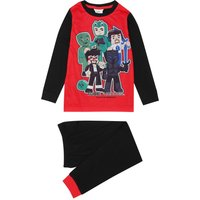 YouTube boys cotton Tube Heroes character print long sleeve top and cuffed ankle trousers pyjamas  -