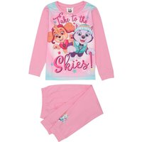 Paw Patrol girls pink cotton character print long sleeve top and cuffed ankle trouser pyjamas  - Pin