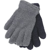 Kids Boys stretch knit thermal fleece magic gloves two pack  - Multicolour