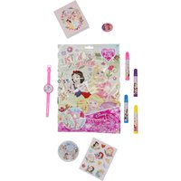Disney Princess Lucky Bag With Keyring Stickers Puzzle Game Etc. - Multicolour