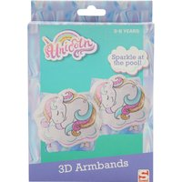 Kids Girls unicorn armbands inflatable sleeves swimming aid  - Multicolour