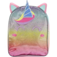 Kids Girls rainbow glitter unicorn backpack  - Multicolour