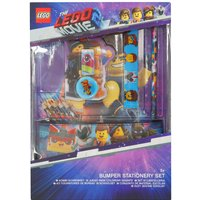 Kids Lego 2 movie character stationery ruler rubber pencils sharpener and case set  - Multicolour