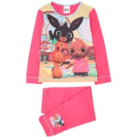 Kids Girls pink Bing bunny pyjama set long sleeve pj top long length cuffed pj bottoms cotton  - Pin