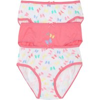 Kids Girls butterfly briefs three pack  - Multicolour