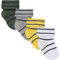 Kids Baby boys striped socks four pack - Multicolour