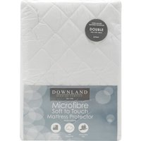 Downland Microfibre soft to touch hollow fibre mattress protector  - White