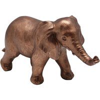Home bronze elephant standing resin ornament  - Bronze
