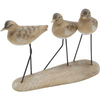 Home sea bird wooden look resin ornament  - Natural