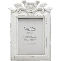 Home cream painted distressed hanging frame vintage inspired resin photo frame  - Cream