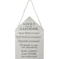 Home Advice For The Gardener Wall Sign G - Green
