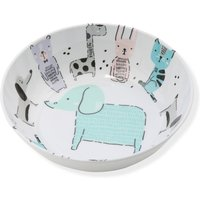 Home Melamine Bowl with Animal Character Print  - Multicolour