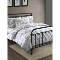 Home botanical shadow duvet set single double king super  - Grey