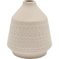 Home embossed beige vase textured pattern small round design  - Taupe