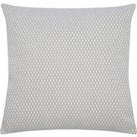 Home weave diamond cushion  - Silver