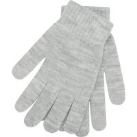 Ladies Winter Soft Cosy Knitted Fingertip Tip Finish Touch Screen Glove  - Light Grey Marl