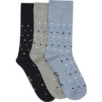 Gentle Grip cotton rich polka dot spot pattern ankle socks - 3 pack  - Multicolour