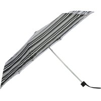 Black And White Stripe Steel Frame Folding Umbrella And Matching Cover - Black And White
