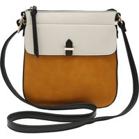 Ladies Colour Block Cross Body Bag - Multicolour