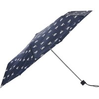 Ladies navy swan print umbrella  - Navy