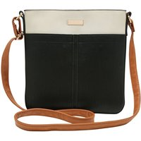 Colour Block Cross Body Bag - Black