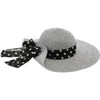 Ladies sun hat with ribbon and wide brim  - Multicolour