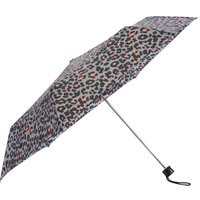 Ladies leopard print umbrella  - Grey